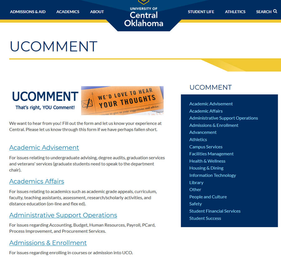 UCOMMENT website